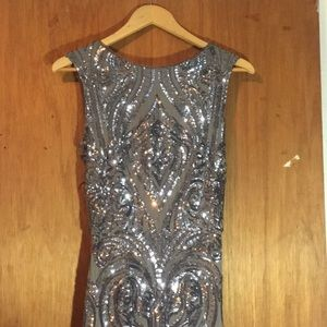 Sequined Gray Dress